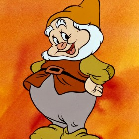Happy from Snow White and the Seven Dwarfs is voiced by Otis Harlan