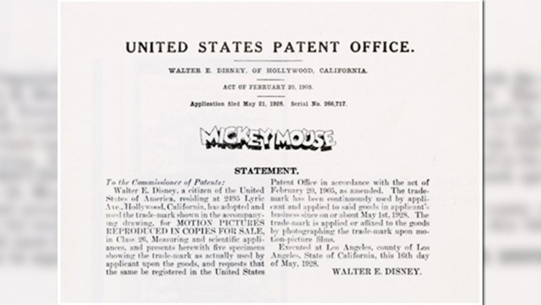 Mickey Mouse Trademark Application