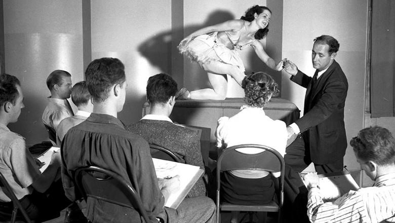 Art school formed at Disney Studio to train animators, with Donald Graham serving as teacher.