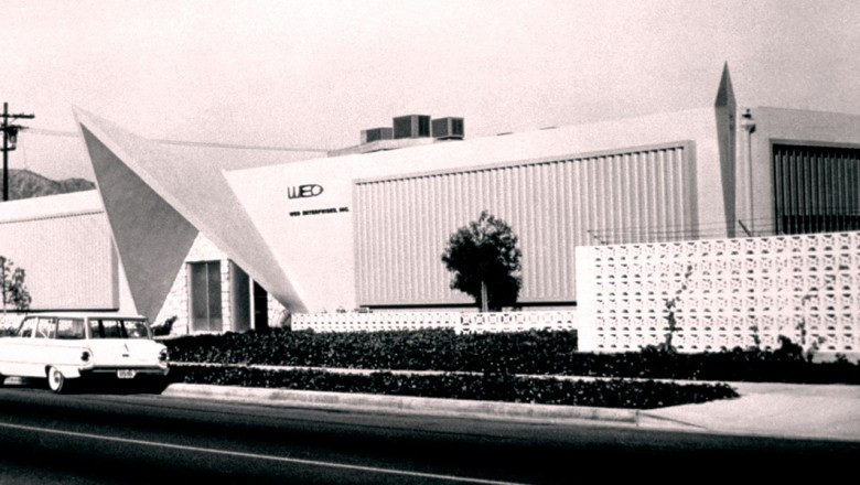 photo of original WED Enterprises buildings, later known as Imagineering