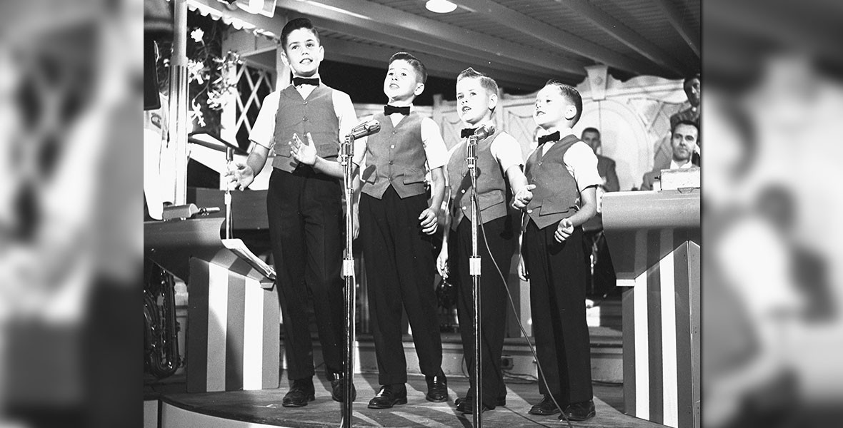 the Osmond Brothers singing at Disneyland