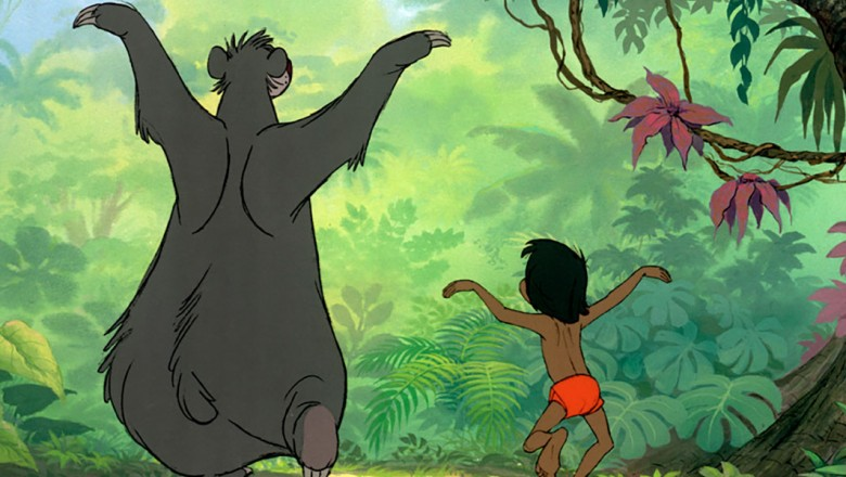 Mogli and Baloo in Disney's Jungle Book film