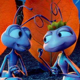 Scene from Disney animated feature a bug's life