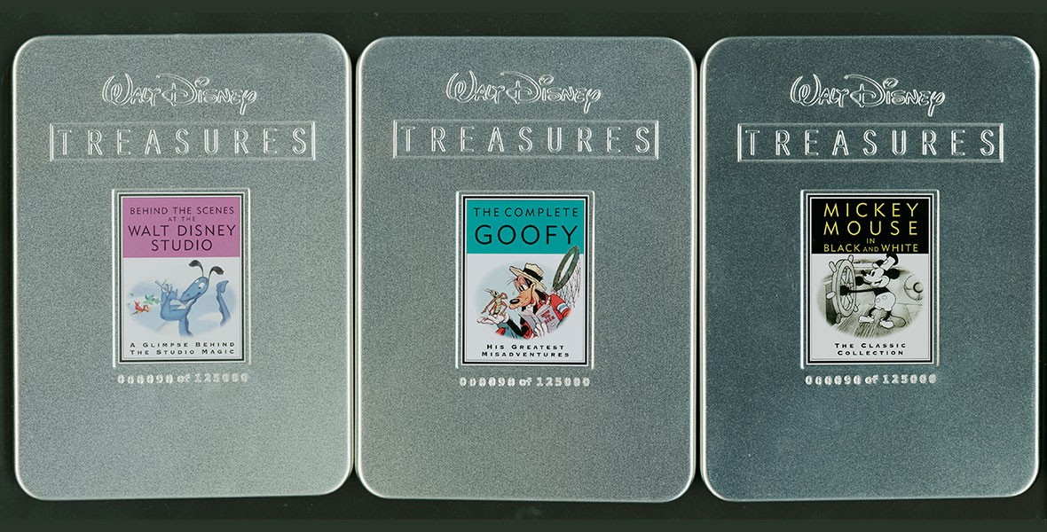 Walt Disney Treasures DVD Collection in aluminum cases