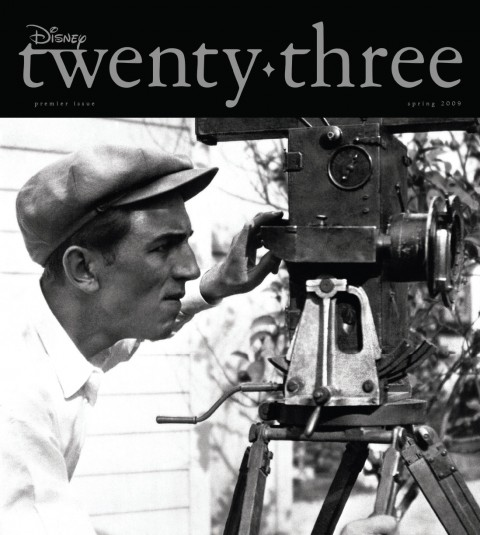 Disney twenty-three Spring 2009 cover art featuring young Walt Disney