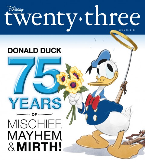 Disney twenty-three Summer 2009 cover art featuring Donald Duck