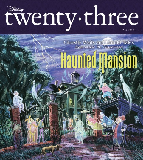 Disney twenty-three Fall 2009 cover art featuring Haunted Mansion