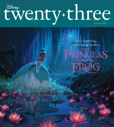Disney twenty-three Winter 2009 featuring Princess Tiana from the Princess and the Frog