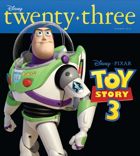 Disney twenty-three Summer 2010 cover art featuring Buzz