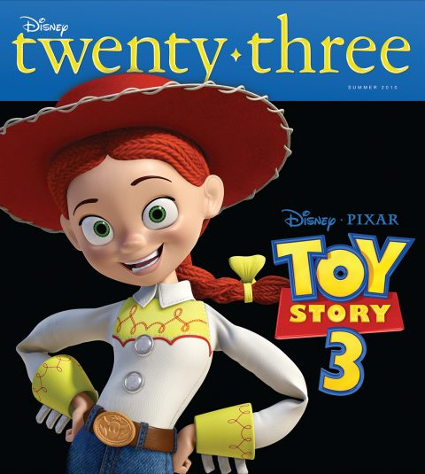 Disney twenty-three Summer 2010 cover art featuring Jessie
