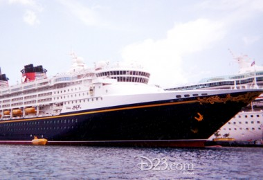 photo of cruise ship Disney Magic docked in marina