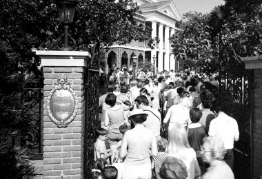 Photo of the Opening of the Haunted Mansion at Disneyland