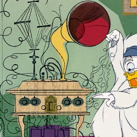 The NBC TV network airs the Walt Disney's Wonderful World of Color show, entitled A Rag, a Bone, a Box of Junk, with Ludwig von Drake