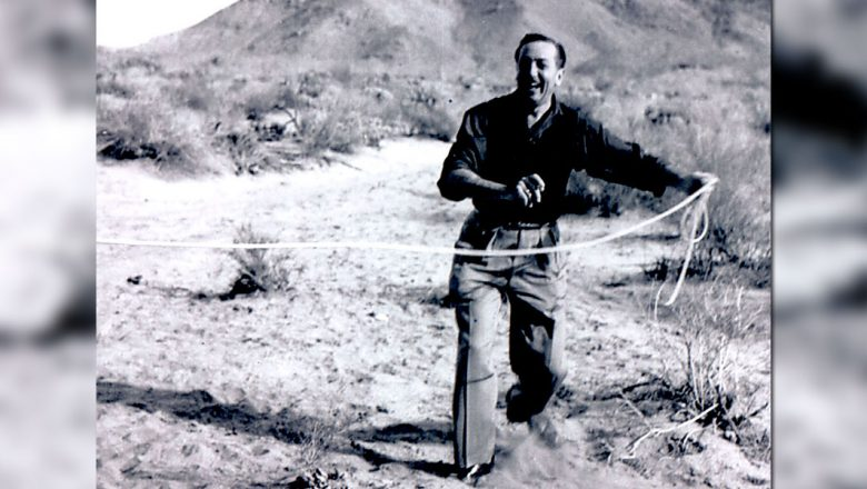 Walt Disney using a lasso