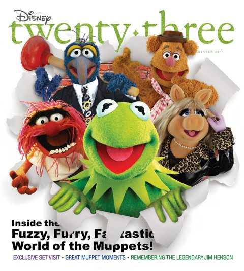 cover art of Winter 2011 Disney Twenty-Three D23 Magazine featuring The Muppets