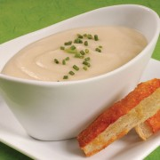 Epcot's Potato Leek Soup with Irish Cheddar Cheese Crisps