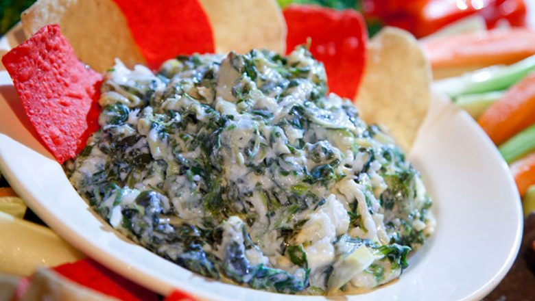ESPN Zone's Spinach and Artichoke Dip