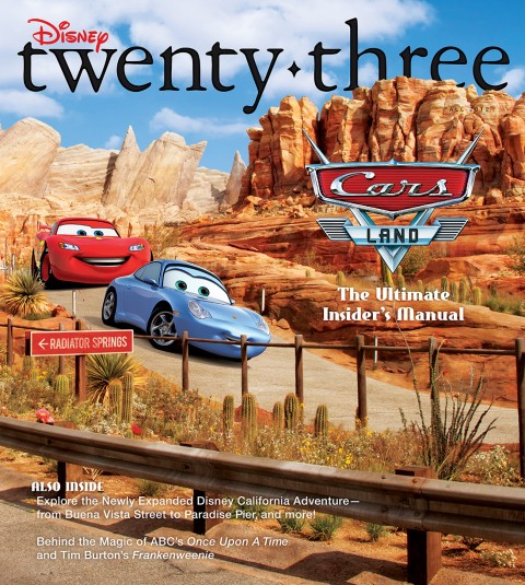 Disney twenty-three Fall 2012 cover art featuring Lightning McQueen and Sally from Cars
