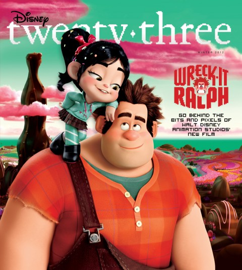 Disney twenty-three Winter 2012 cover art featuring Wreck-It Ralph