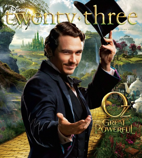 Disney twenty-three Spring 2013 cover art featuring Oz the Great and Powerful