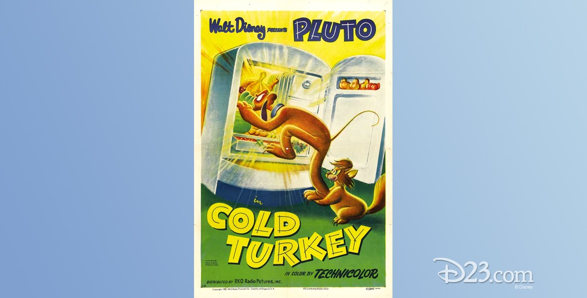 one-sheet movie poster of Cold Turkey featuring Pluto