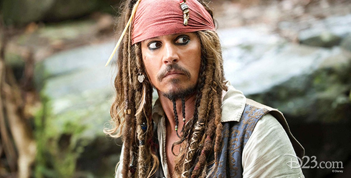 movie still of Johnny Depp from his role in Pirates of the Caibbean