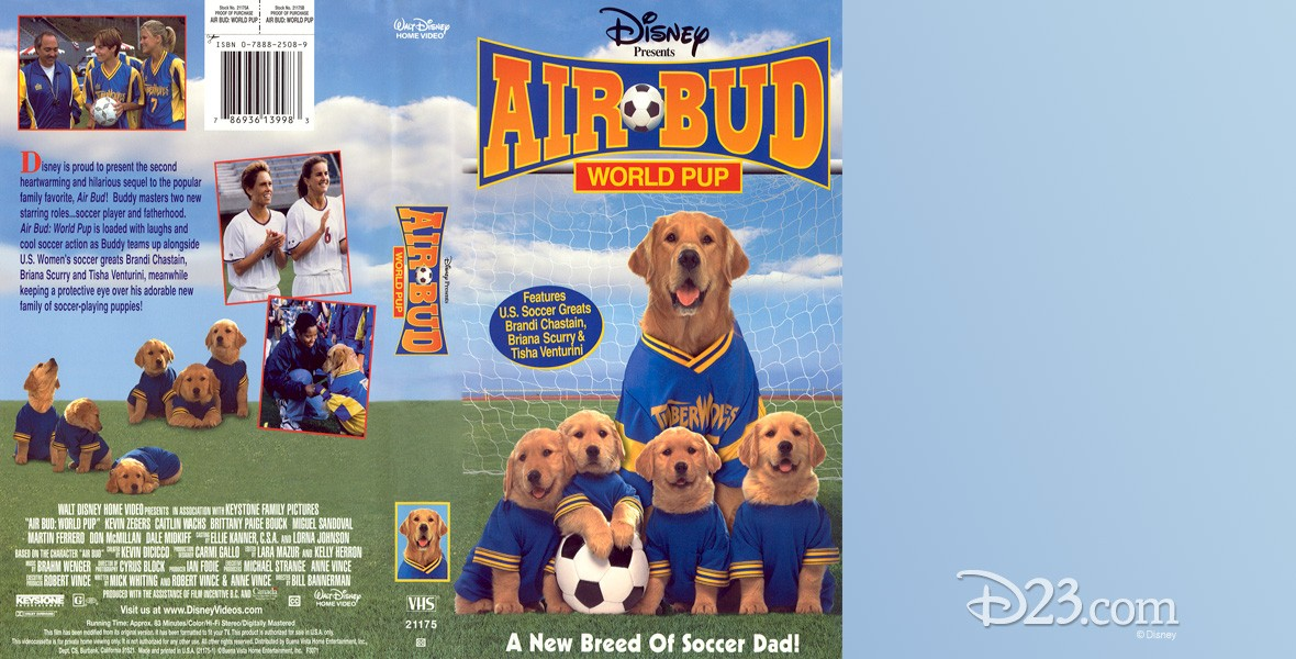 VHS cover art for movie Air Bud: World Pup