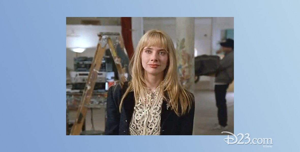 photo of Rosanna Arquette on set