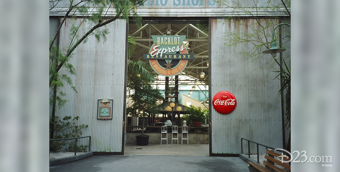 photo of entrance to Backlot Express restaurant at Disney-MGM Studios