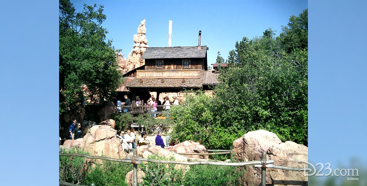 photo of Big Thunder Mountain Railroad in Frontierland at Disneyland