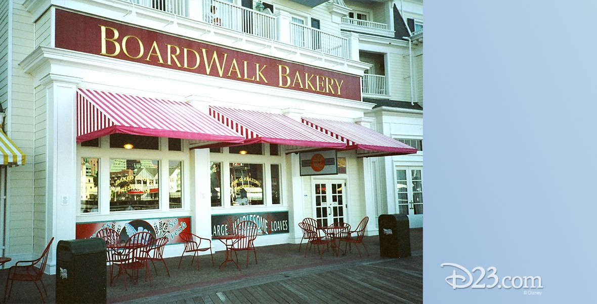 photo of entrance to BoardWalk Bakery at Walt Disney World