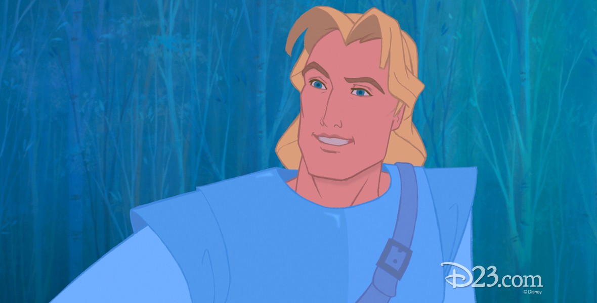 animation cel from Pocahontas showing Captain John Smith
