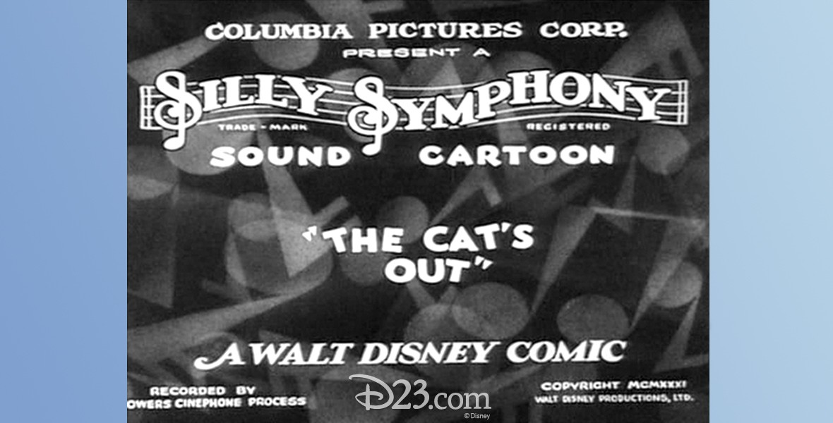 title card from the movie Cat's Nightmare, The Copyright title of The Cat's Out