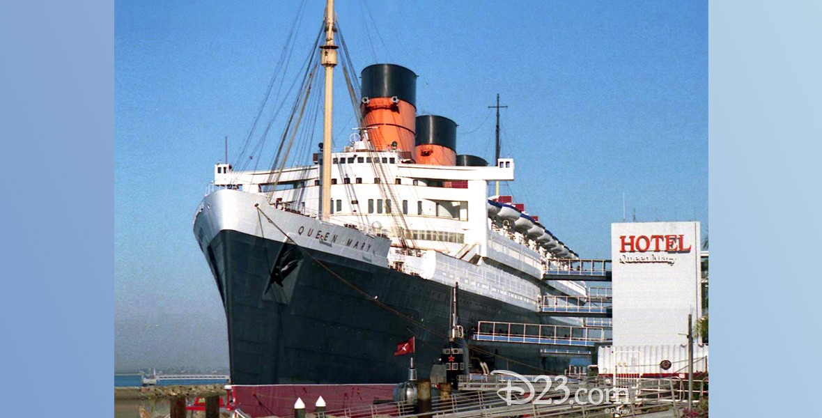photo of Queen Mary ship moored at pier