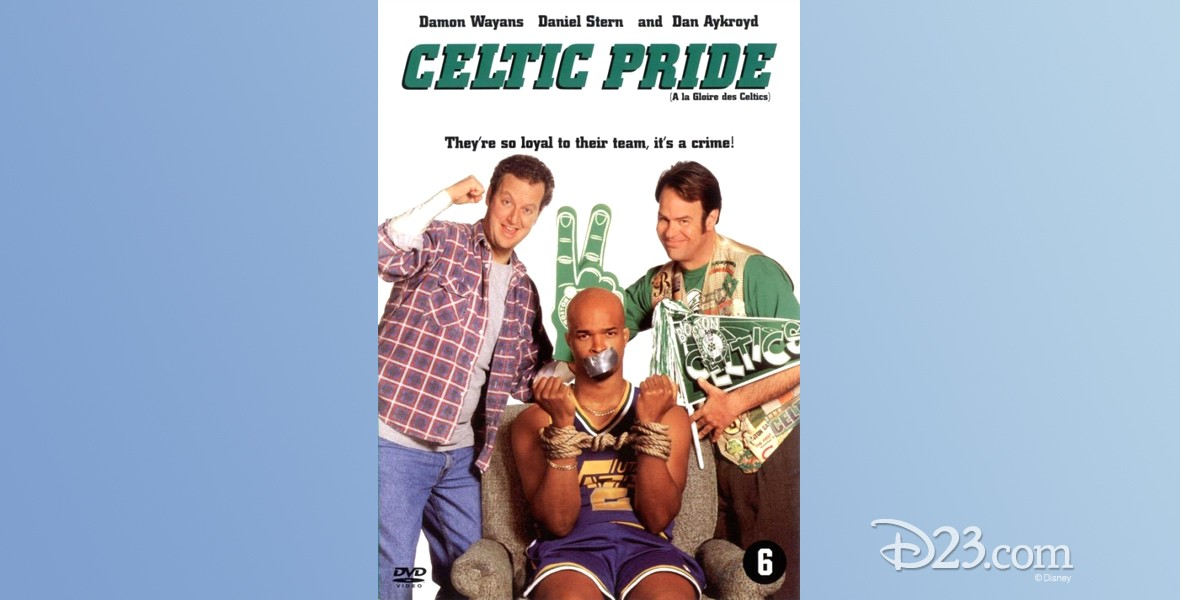 DVD movie poster for Celtic Pride (film) featuring Daniel Stern, Damon Wayans, and Dan Akroyd