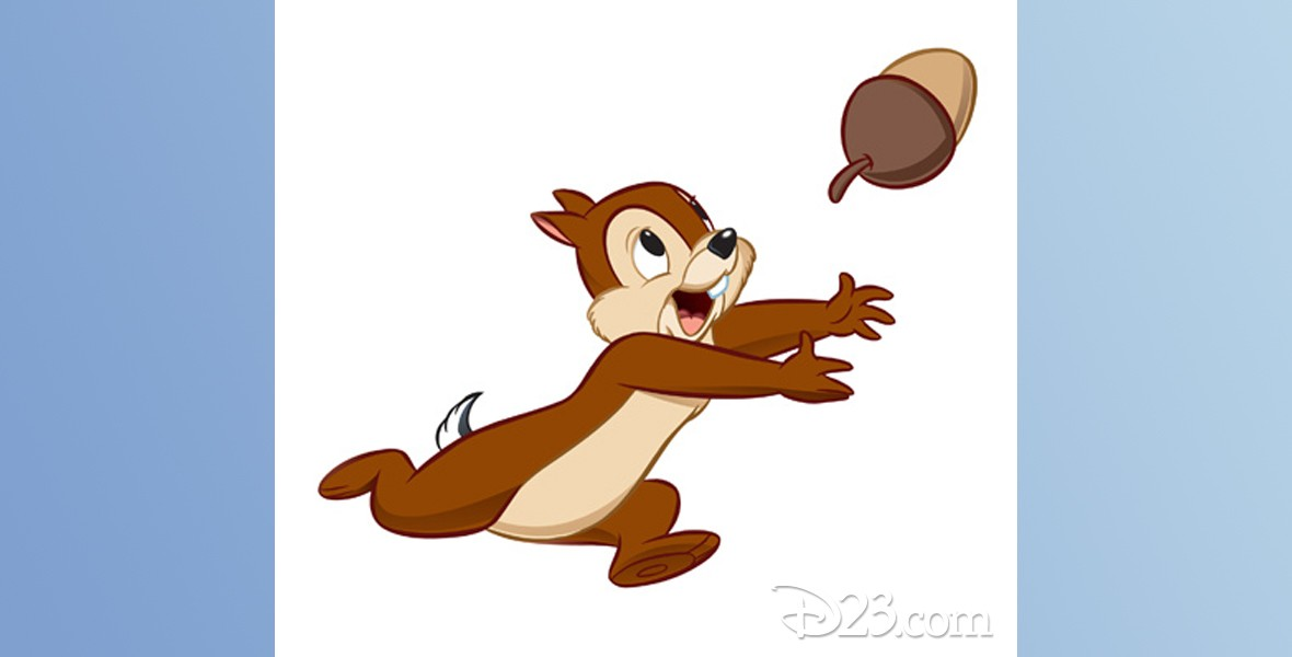 cel from animated movie of Chip chipmunk