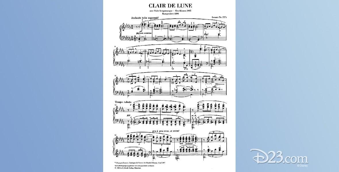 sheet music from Clair de Lune