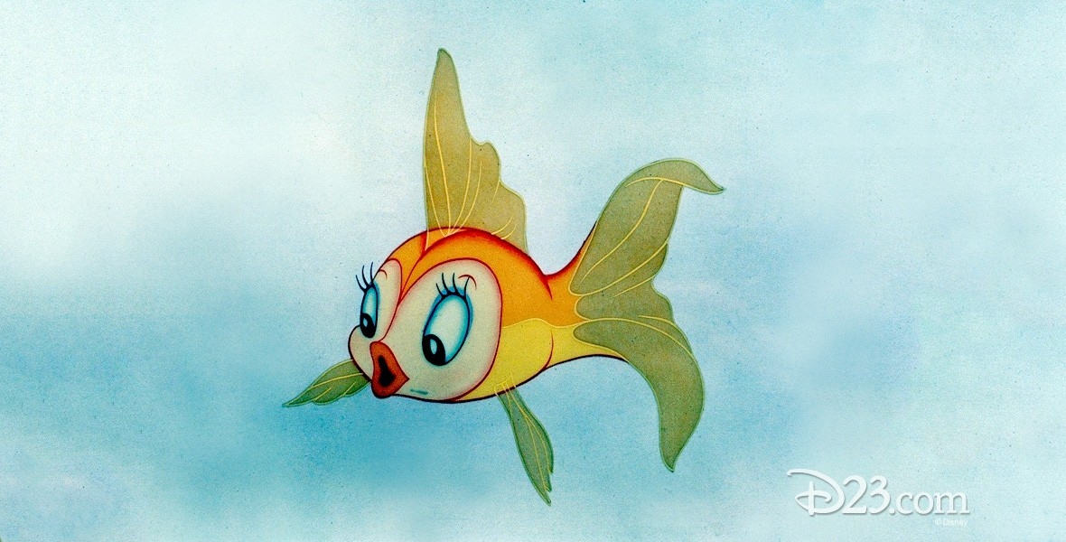 cel from animatation of Cleo goldfish from Pinocchio