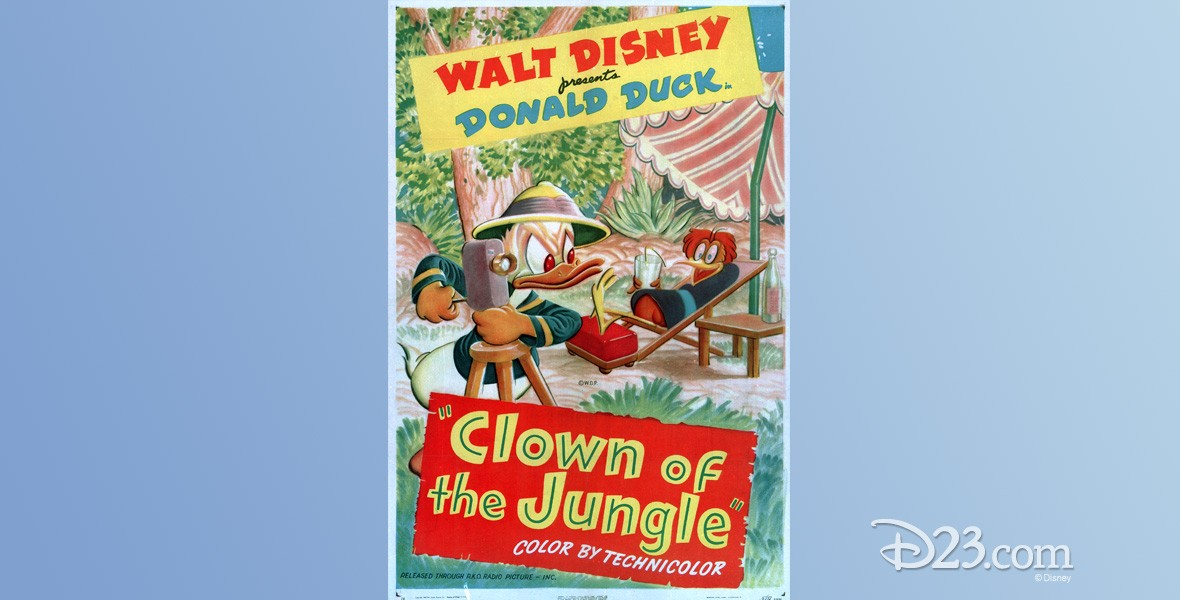 poster art for Clown of the Jungle, featuring Donald Duck