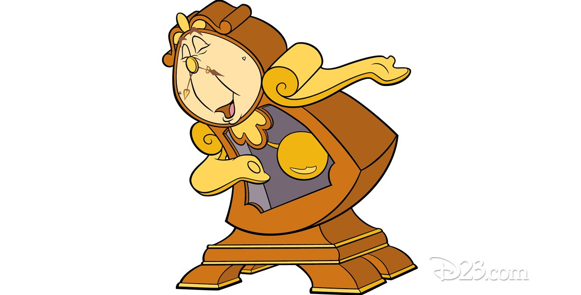 illustration of character Cogsworth from Beauty and the Beast