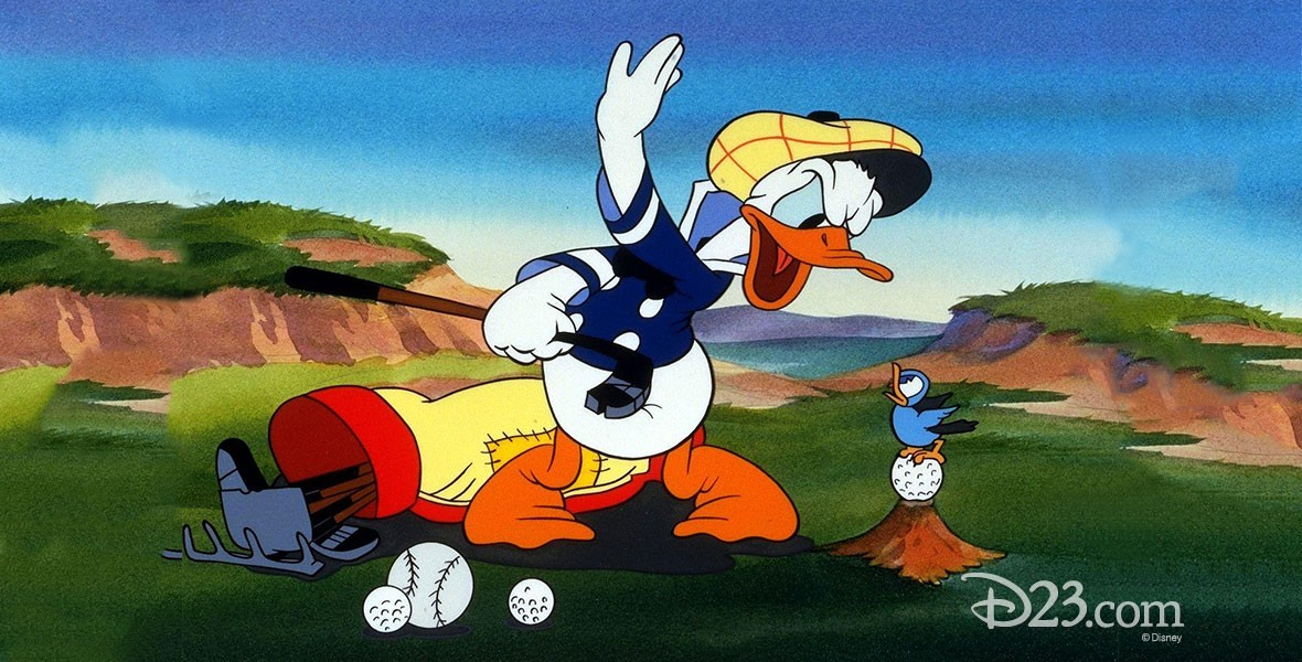 cel from animated movie Donald's Golf Game