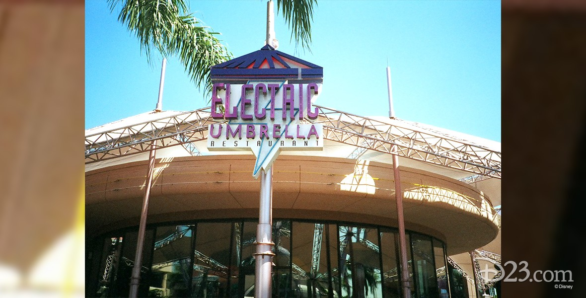 photo of exterior of Electric Umbrella at Epcot Center