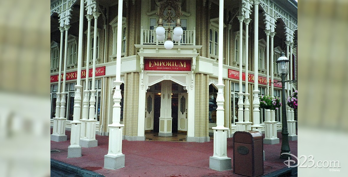 photo of entrance to Emporium at Disneyland