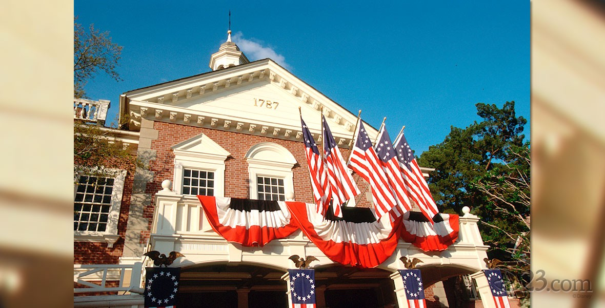 The Hall of Presidents attraction at Walt Disney World