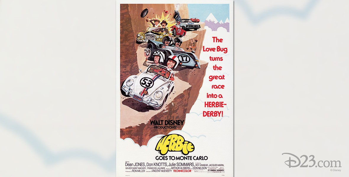 one-sheet poster for movie Herbie Goes to Monte Carlo