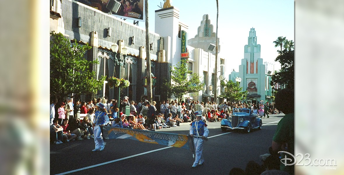 photo of parade on Hollywood Boulevard
