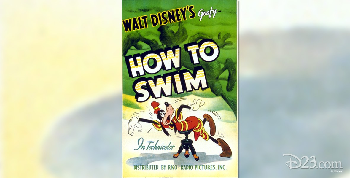 one-sheet movie poster for How to Swim featuring Goofy affecting the crawl