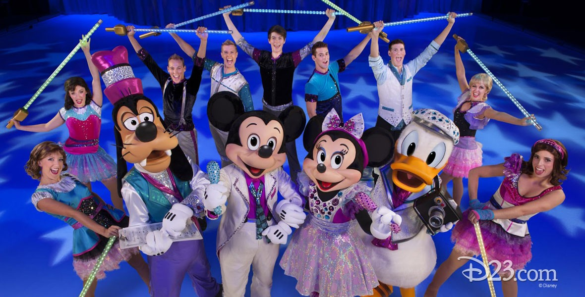 Mickey Mouse and other Disney characters from Disney's World on Ice