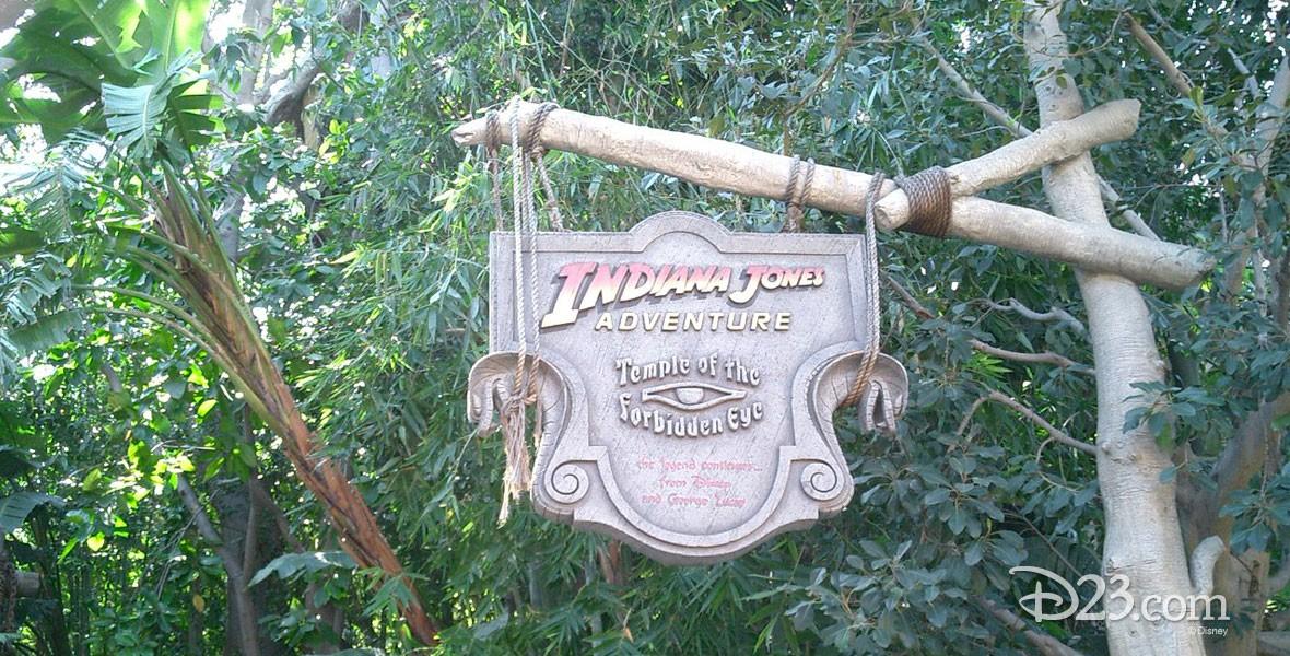 Indiana Jones Adventure attraction at Disneyland