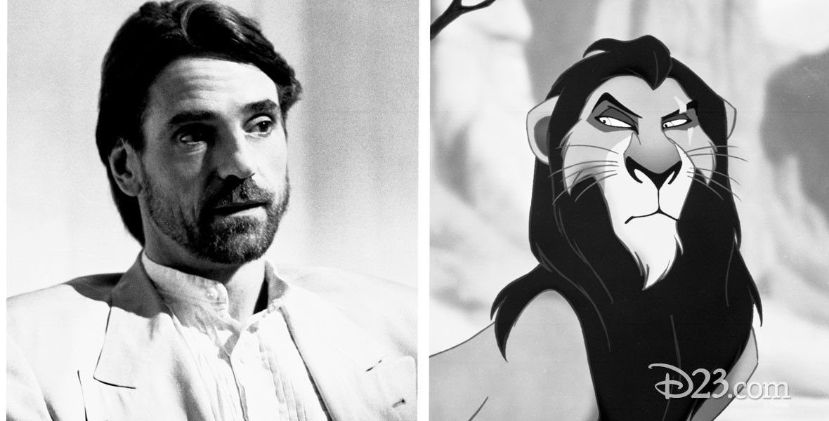 Jeremy Irons, the voice of Scar from the Lion King